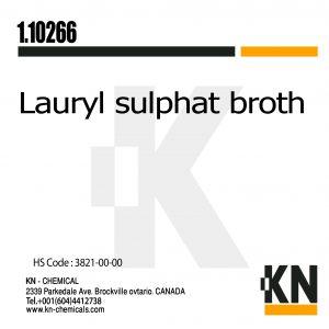 Lauryl sulphate broth