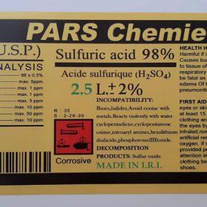 اسید سولفوریک98% 2/5 لیتر