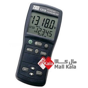ترمومتر مقاومتی pt100 دو کاناله RTD مدل TES-1318