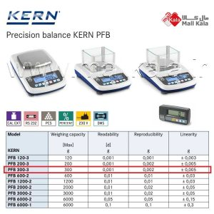 ترازوی دقیق آزمایشگاهی کرن KERN pfb300-3